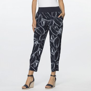 Swirl Print Pull-On Pant