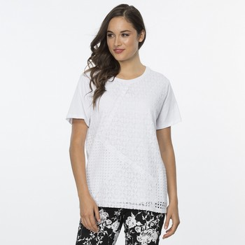 Spliced Lace Panel Tee