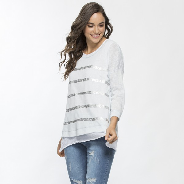 Foil Stripe Two in One Top
