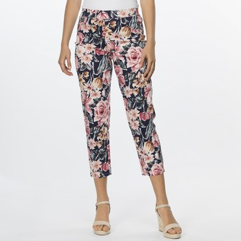 Floral Cotton Pull On Pant