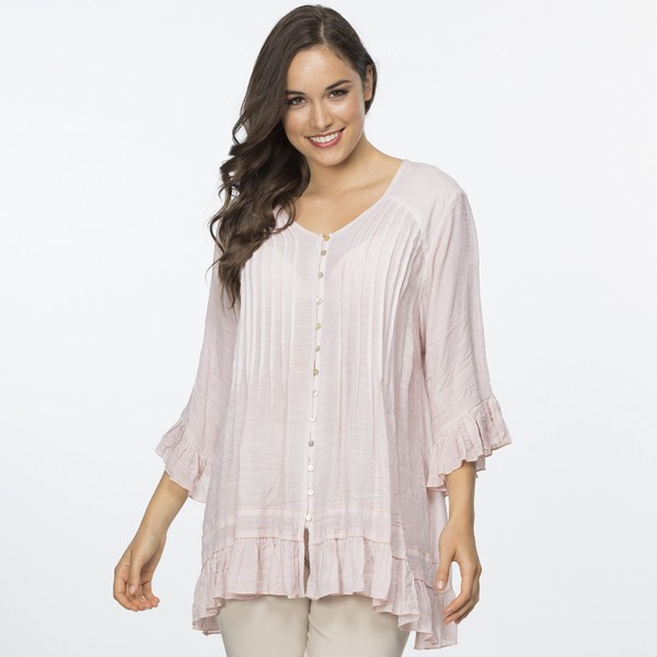 Frilled Crinkle Top
