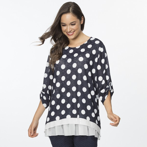 Layered Sequin Spot Top