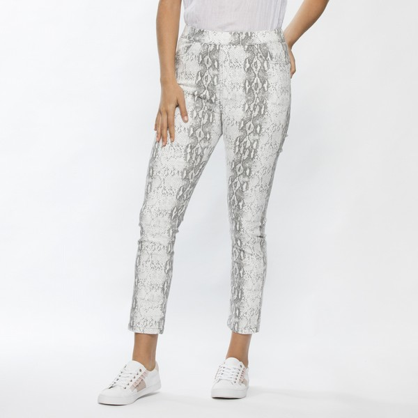 Animal Print Crop Stretch Pant