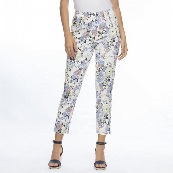 Floral Cotton Pull On Pants