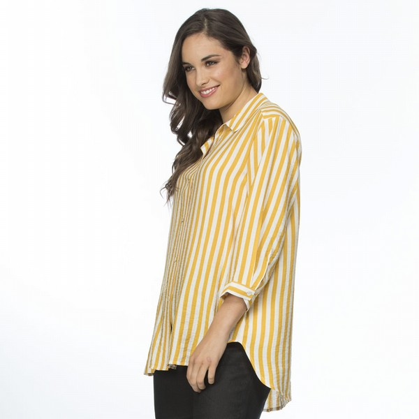 Stripe Yellow Shirt