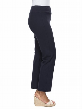 The Ponte Tummy Control Pant by Threadz will be your new best friend!                                                                                            In a cosy and comfortable stretch ponte the tummy control gauze gusset sits                                                                                      across the waist, flattening the tummy and slimming the hips with it's wider                                                                                     waistband. With a straight trouser leg, this classic pant will add style as                                                                                      well as comfort for seasons to come.                                                                                                                             Available in Black and Navy.                                                                                                                                     Model wears Size S and stands 178cm tall.