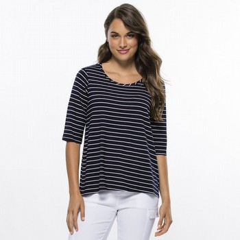 Fine Stripe Short Sleeve Tee
