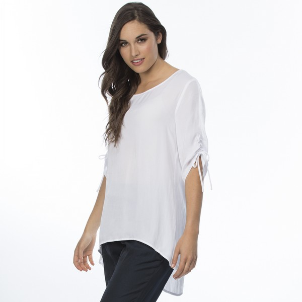 Luxe Ruched Sleeve Top