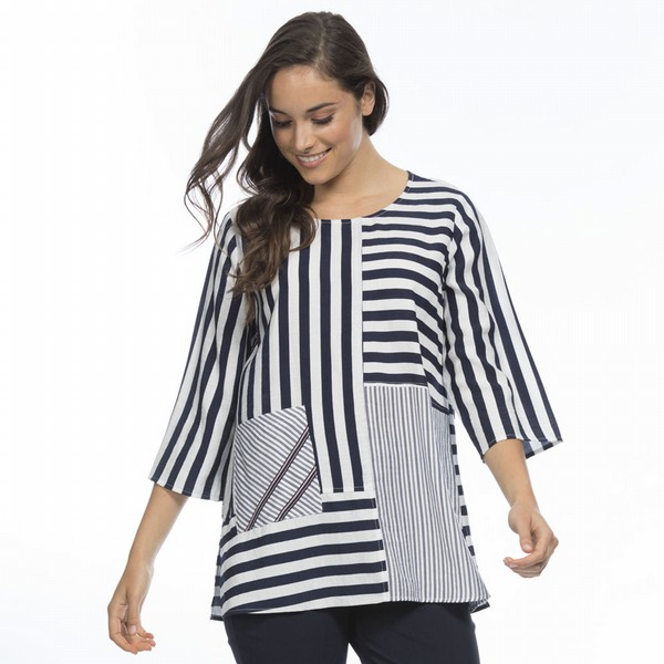 Multi Panel Stripe Top