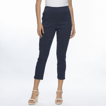 Sateen Flat Front Stretch Pants