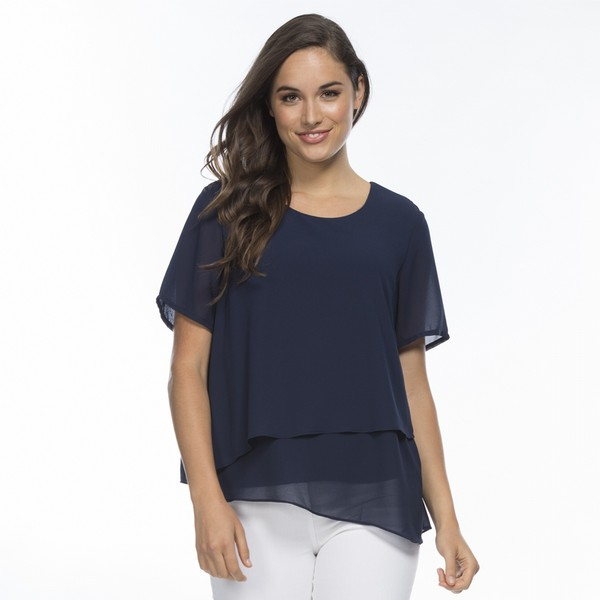 Georgette Overlay Top