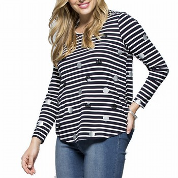 Stripe & Spot Top