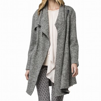 CASCADE FRONT SWING COAT