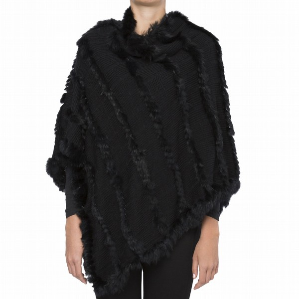 FAUX FUR TRIM KNIT