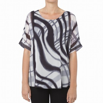 MANHATTAN PRINT GEORGETTE TOP